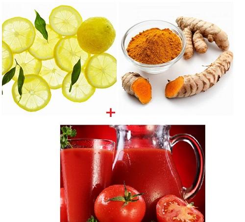 Cách làm đẹp sau sinh bằng nghệ + cà chua