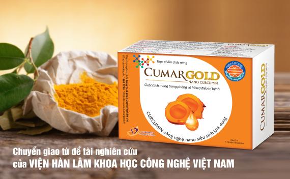CumarGold - Tinh chất nghệ Nano Curcumin giúp ngăn ngừa biến chứng đau dạ dày