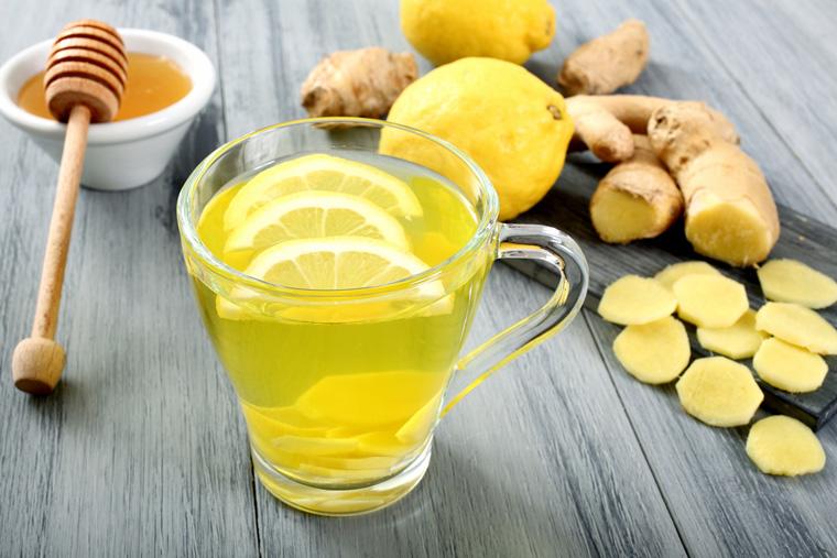 Nước gừng, chanh, mật ong giúp giảm đau dạ dày