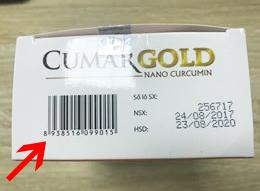 mã vạch trên sản phẩm CumarGold