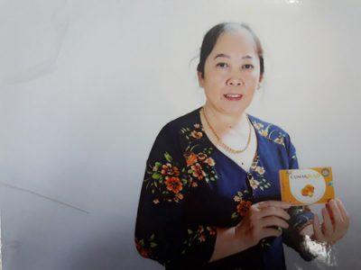 Bà Vũ Thị Bột tin tưởng và sử dụng sản phẩm CumarGold từ năm 2015