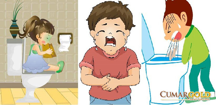 Nôn và đau bụng là một trong những triệu trứng chính
