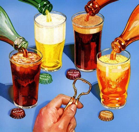 Đồ uống có gas làm tăng nguy cơ viêm loét dạ dày.