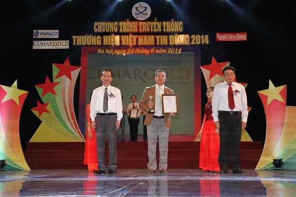 CumarGold vinh dự đạt top 10 thương hiệu Việt Nam tin dùng năm 2014