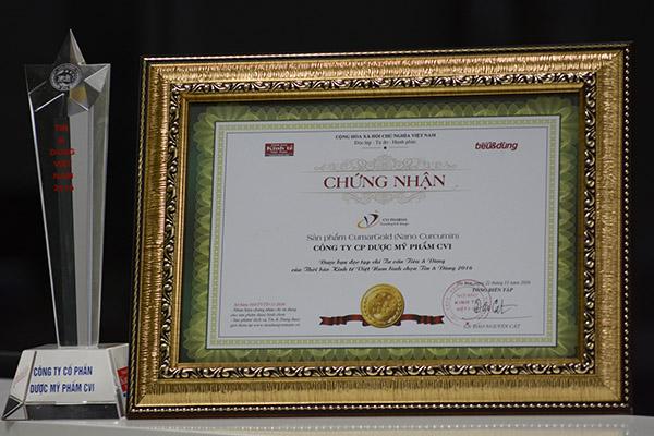 Năm thứ 3 liên tiếp sản phẩm CumarGold được vinh danh Thương hiệu Việt Nam tin dùng