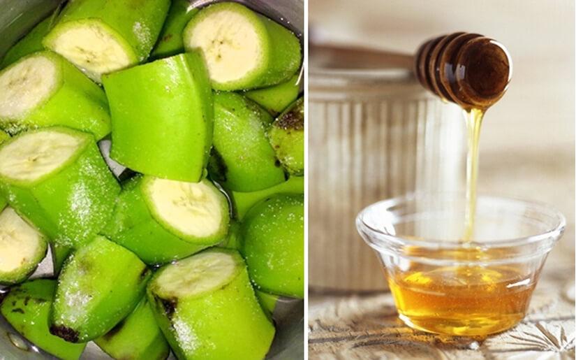 Bài thuốc chữa bệnh đau dạ dày từ chuối xanh + mật ong