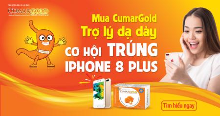 Đau dạ dày mua ngay CUMARGOLD, tìm vận may trúng IPHONE 8 Plus 64GB