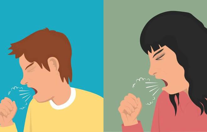 Ho là một trong những triệu chứng đầu tiên của bệnh ung thư phổi.