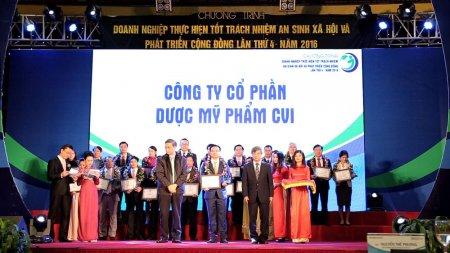 """CVI Pharma vinh dự được công nhận """"Doanh nghiệp thực hiện tốt trách nhiệm An sinh xã hội và phát triển cộng đồng"""""""