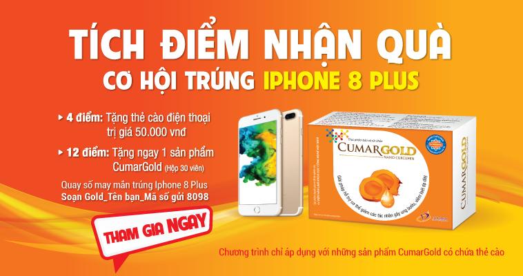 Mua cumargold - tích điểm nhận quà trúng iphone 8 plus