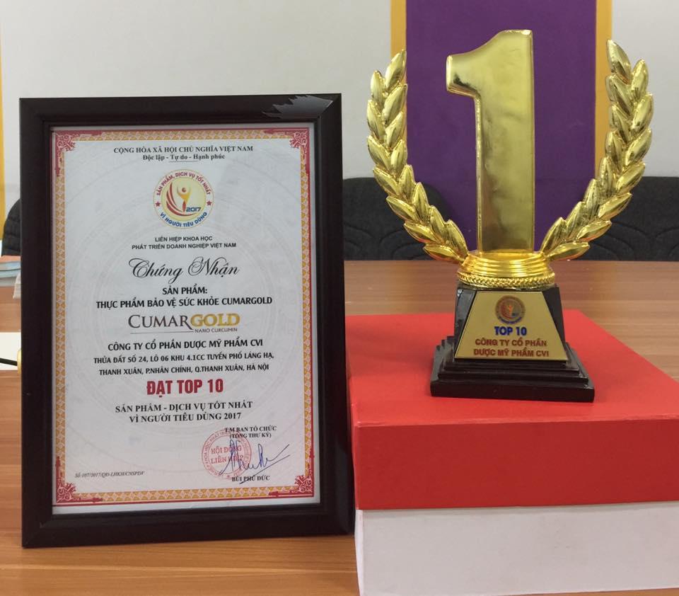 CumarGold đạt giải top 10 thương hiệu tin dùng Việt Nam