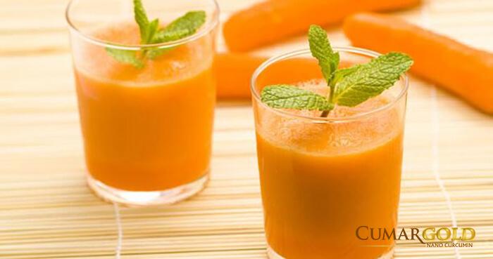 Nước ép cà rốt bạc hà