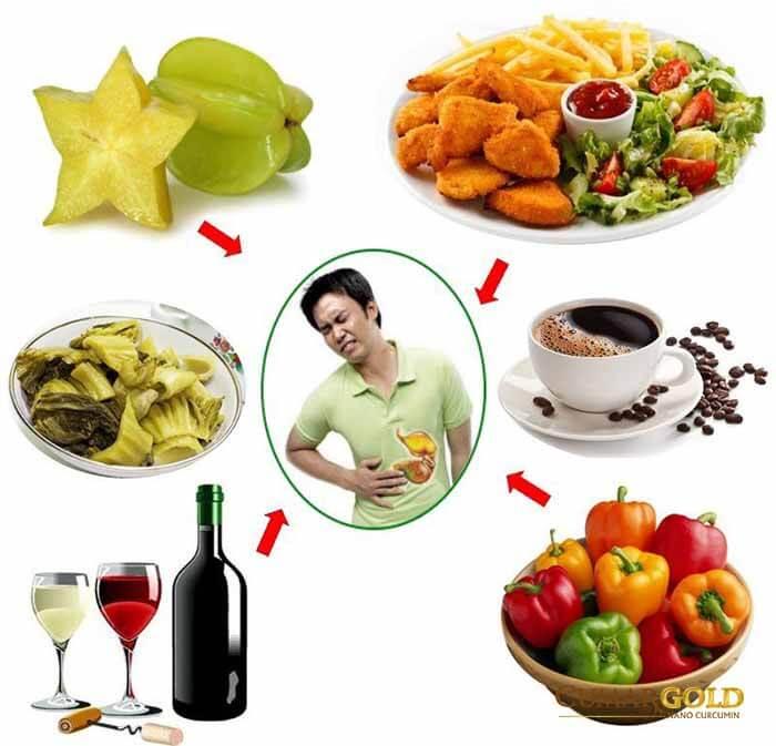 Chế độ ăn uống là một trong những nguyên nhân dẫn đến hiện tượng đau dạ dày theo giờ