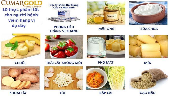 Thực phẩm nên bổ sung