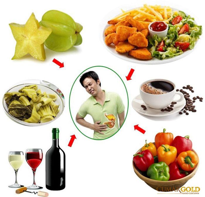Thực phẩm người bị viêm loét dạ dày tá tràng không nên ăn