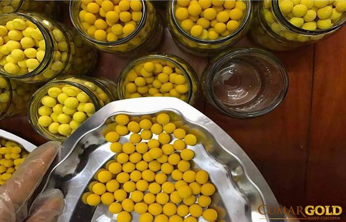 Viên nghệ mật ong trị viêm hang vị
