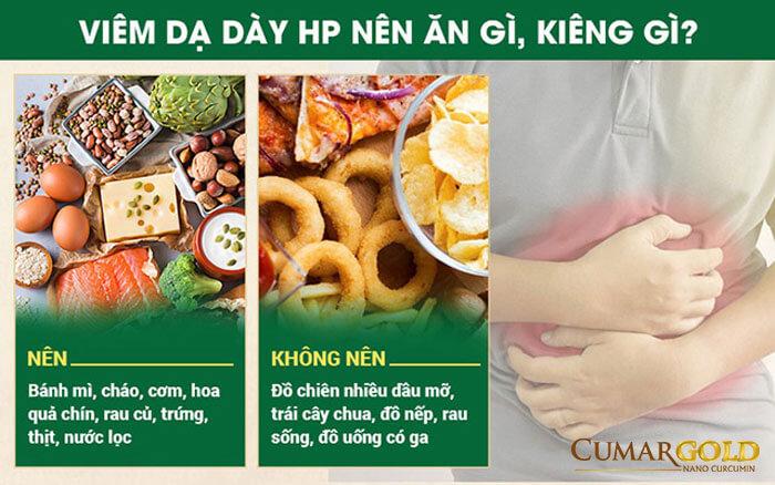 Chế độ ăn cho người bị đau dạ dày do nhiễm vi khuẩn HP