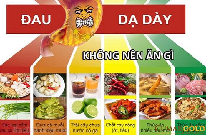 các thực phẩm nên tránh khi bị đau dạ dày