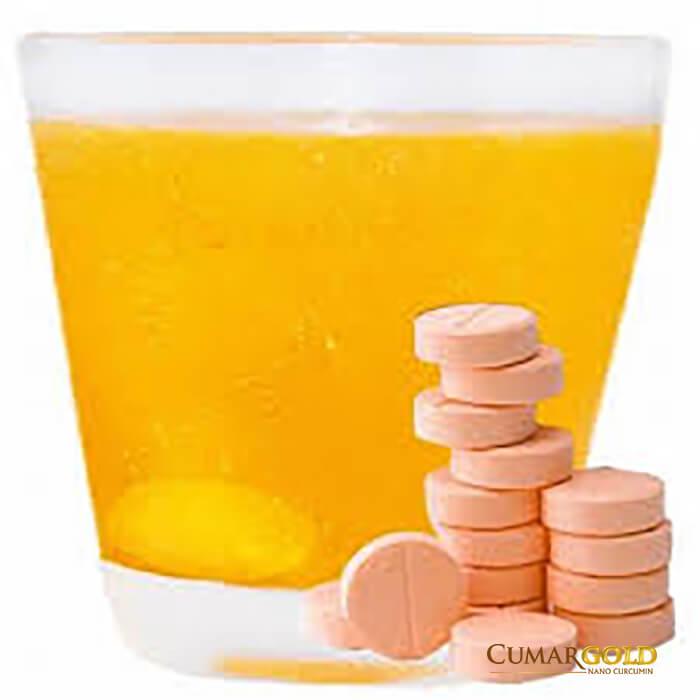 Nano Curcumin được bào chế thành từng viên thuốc sủi tan rất nhanh trong nước