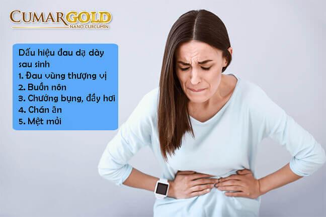 Dấu hiệu của đau dạ dày sau sinh
