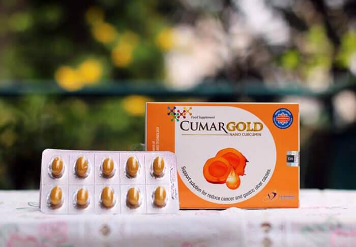 CumarGold là viên nang mềm dạng bào chế Nano Curcumin thành những viên nang mềm với vỏ thuốc