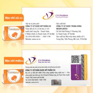 Thông báo: Thay đổi địa chỉ sản xuất sản phẩm CumarGold