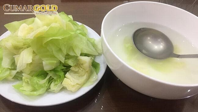 Bắp cải luộc tốt cho người bị đau dạ dày