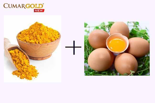 Cách làm mặt nạ trắng da từ tinh bột nghệ và lòng đỏ trứng gà