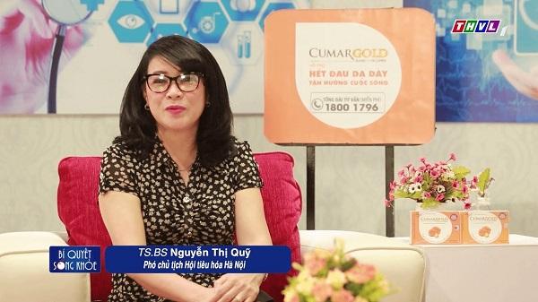 Bs Nguyễn Thị Quỹ - Phó chủ tịch Hội Tiêu Hóa Hà Nội chia sẻ về sản phẩm CumarGold